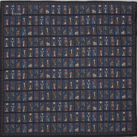 bandana en soie bleu