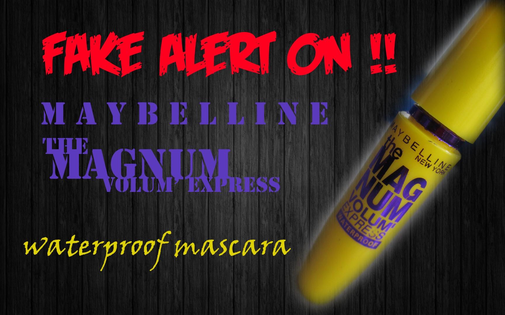 Fake Alert On Maybe Dia Nyebelin The Magnum Volumexpress Mascara Maybelline Hypercurl Hitam