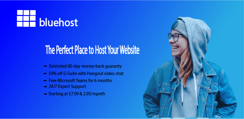 Bluehost web hosting- Best overall