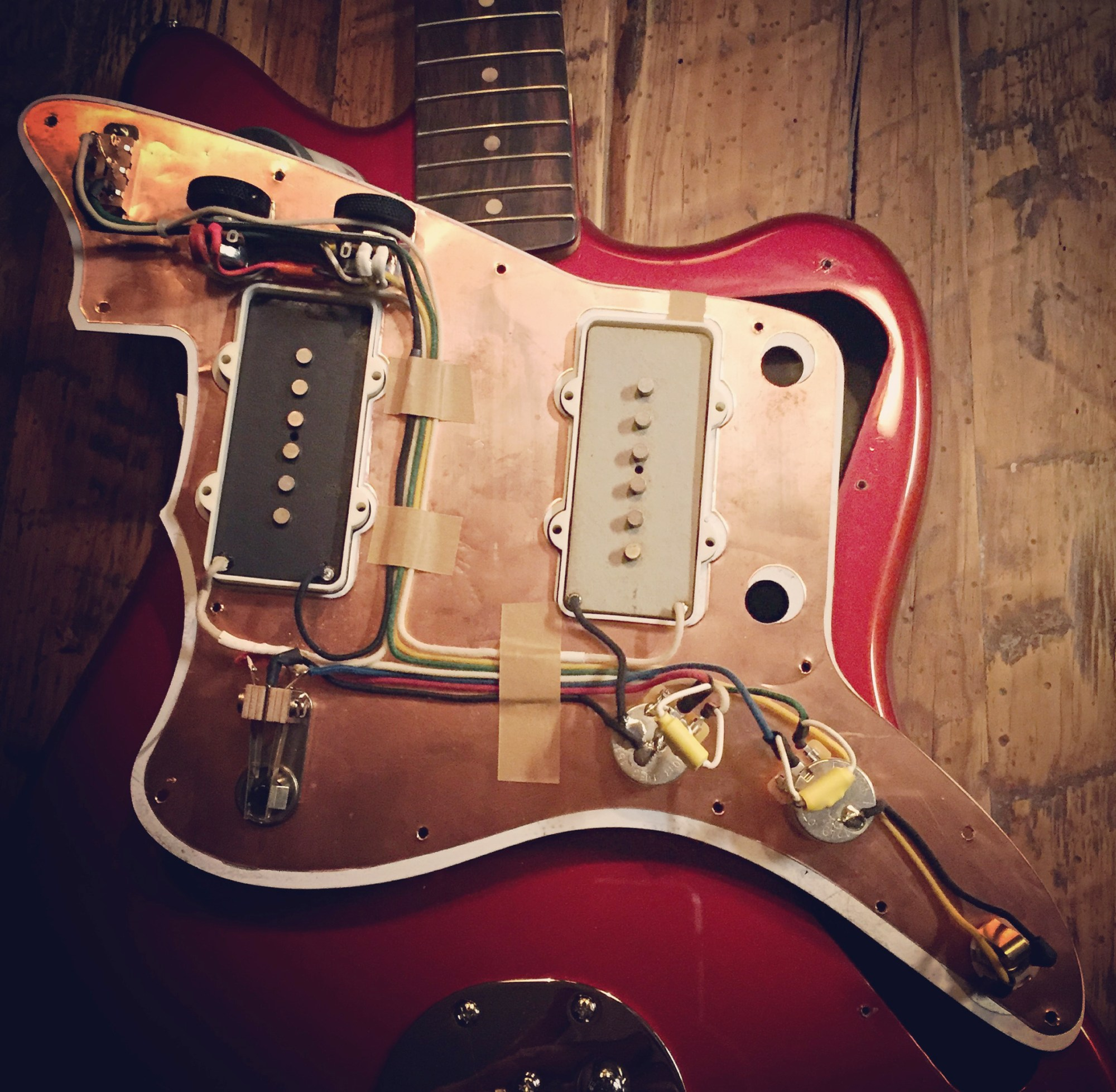 hight resolution of jazzmaster lead circuit with dual volume controls final wiring harness