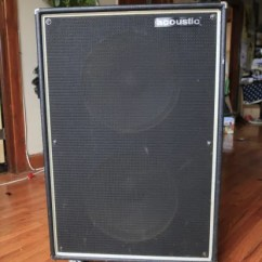 Office Chair Casters Rental Miami Acoustic 2x15 Guitar + Bass Cab 1970 Black Speaker Cabinet 4Ω @ 600 W | Reverb