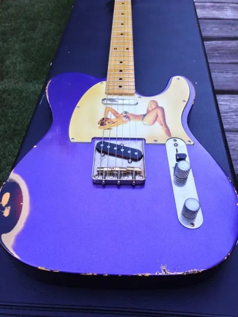Style Input Jack Wiring Fender Mjt Telecaster 2015 Crown Royal Purple Over Sunburst Reverb