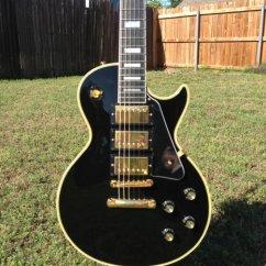 Les Paul Wiring Diagram Wind Generator 2000 Gibson Custom 1957 Historic 57 Triple 3 Pickup R7 Black Beauty | Reverb