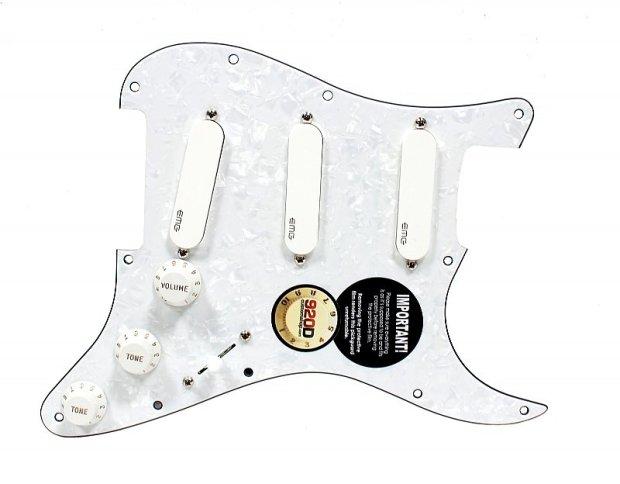 920D Custom Loaded Strat Pickguard w/ EMG SA SPC EXG White