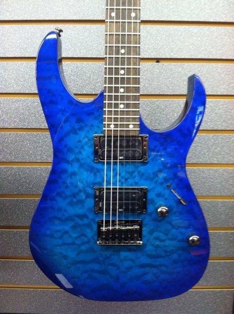 Ibanez Rg Electric Guitar Rg421qm Blue