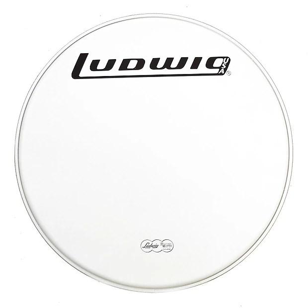 Ludwig 22 Inch Coated Power Collar Drum Head w/70s Logo