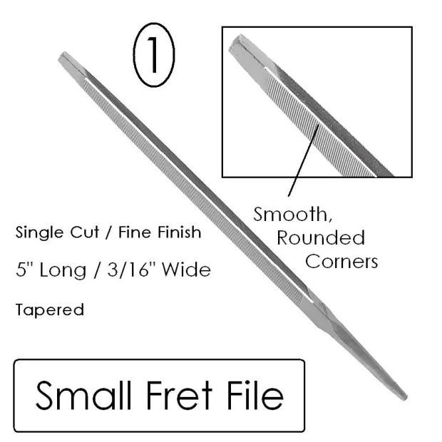 Fret Dressing Crowning File Set (3) Luthier Tool Kit