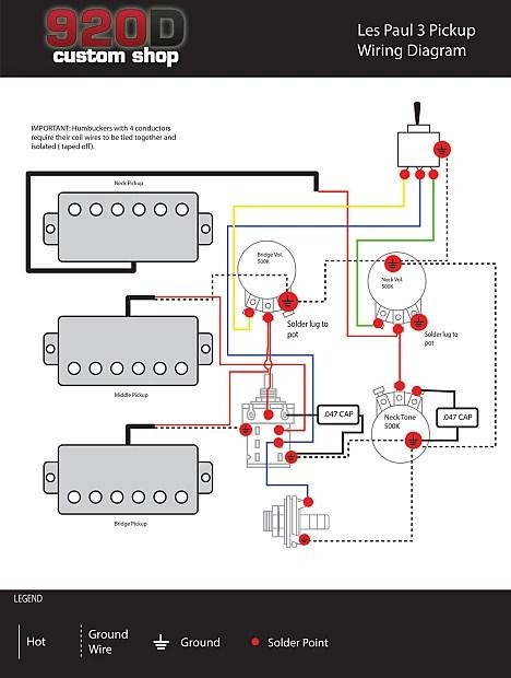 Pickup Wiring Diagrams On Gibson Les Paul 3 Pickup Wiring Diagram