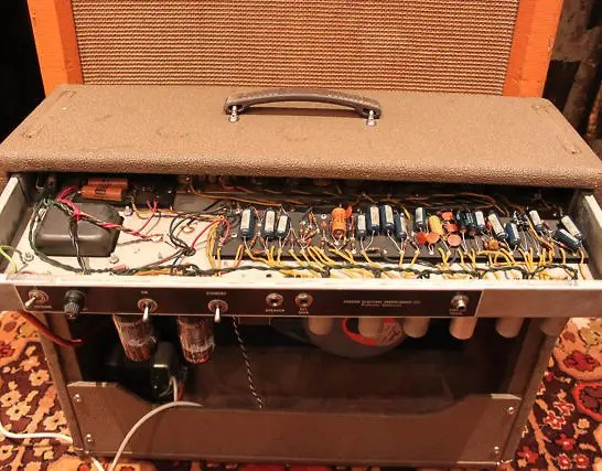 Vintage Fender Vibrasonic 1x15 6g13 Brownface Tweed