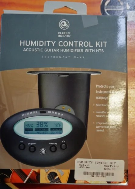 D/'Addario Acoustic Guitar Humidifier-Digital Humidity /& Temp sensor.PW-GH-HTS