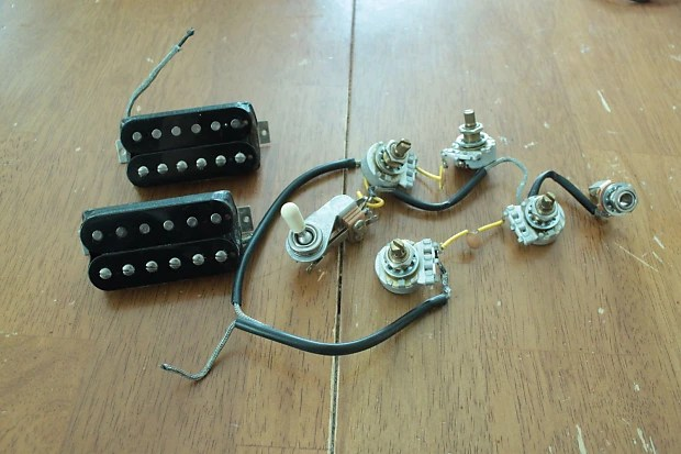 Gibson Usa Sg 490t 490r Humbucker Pickups And Wiring Harness For Sg