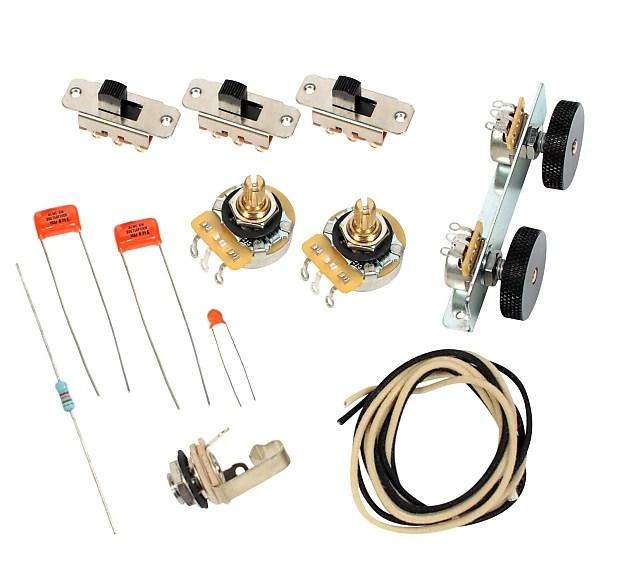 Sg Modern Wiring Diagram Fender Vintage 62 Jaguar Wiring Kit Pots Switch Slider