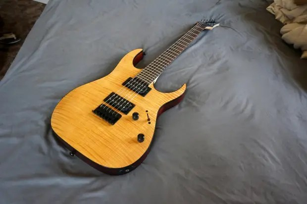 Ibanez Rg Fm Electric Guitar Rg Flamed Maple Top Fixed