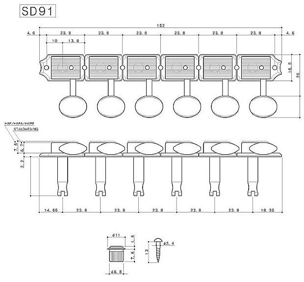 GOTOH SD91 Magnum Lock Traditional locking guitar tuners