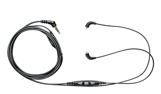 Shure Earphone Accessory Cable Remote + Mic three button