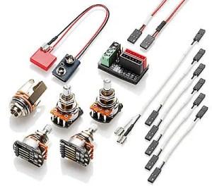 EMG 1  2 Pickup Conversion Wiring Kit Solderless, quick