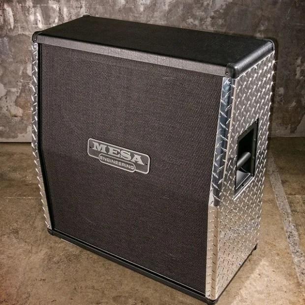Mesa Boogie 4x12 Recto OS Slant Cabinet Diamond Plate  Reverb