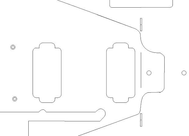 1959 Flying V routing template. Vinyl sticker for guitar