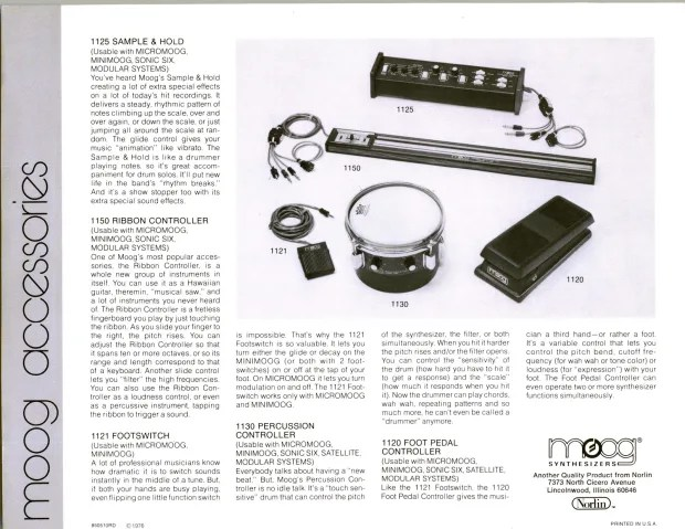 Moog 1150 Ribbon Controller Voltage Controller Accessory