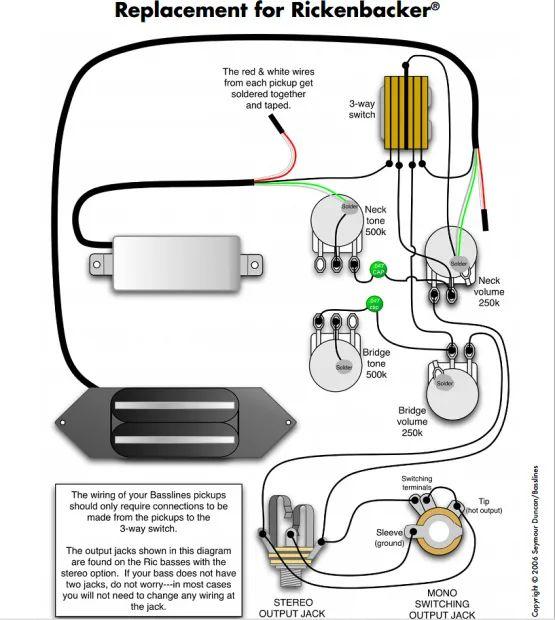 rickenbacker b wiring harness