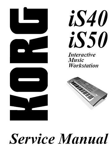 Korg iS 40 Keyboard Arranger Workstation/Digital Synth