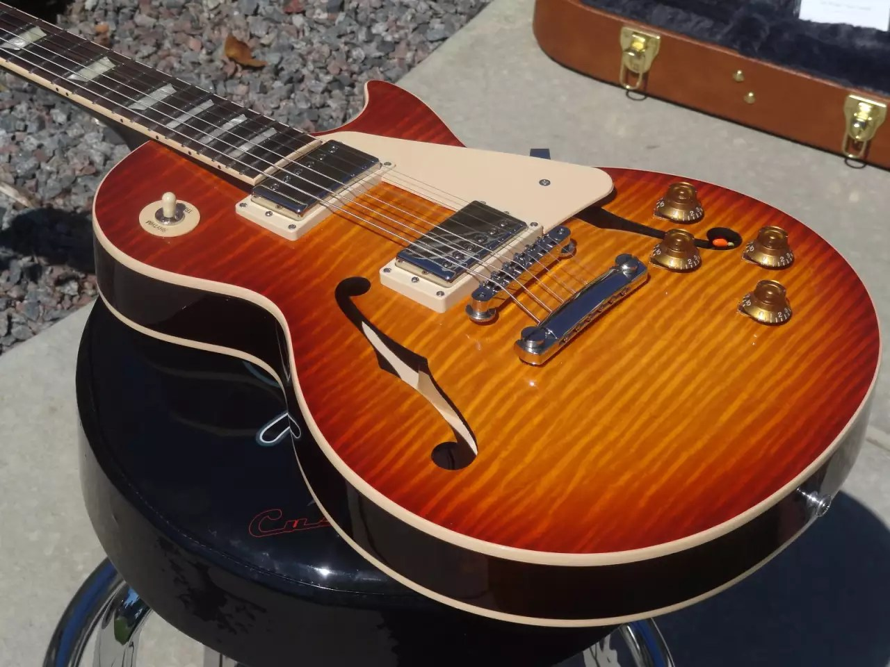 gibson les paul custom semi hollow typical refinery process diagram es electric guitar 2014 reverb
