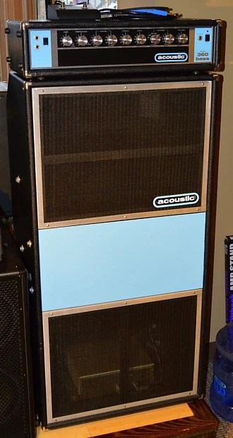 Acoustic 360 and 361 bass amplifier and cabinet made in
