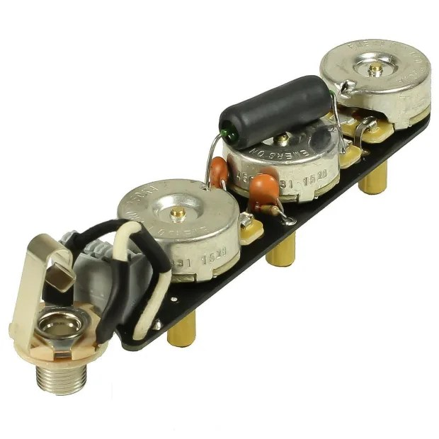 Obsidianwire Solderless Deluxe Upgrade Wiring Harness For Jazz Bass