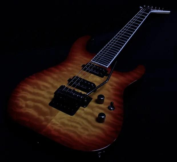 Jackson Soloist Sl2q Mah Pro Series Burnt Cherry