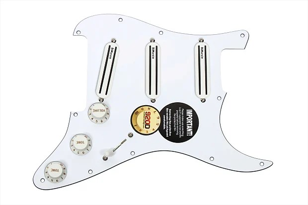 DiMarzio High Power Loaded Pickguard Wired By 920D Custom