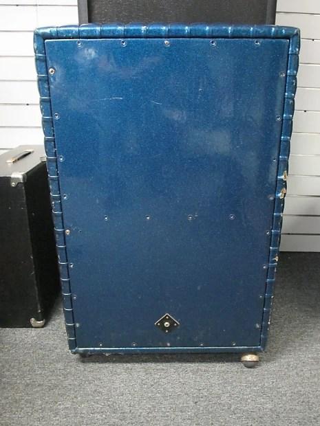Kustom K100 2 x 12 guitar speaker cabinet Blue Sparkle