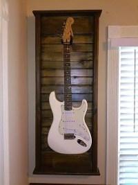 Hand Made Guitar Wall Mount Display Case & Hanger / Dark ...
