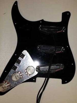 GFS Lil Killer Set Black Rail Pickups for Strat  Pickguard for Superstrat Wiring | Reverb