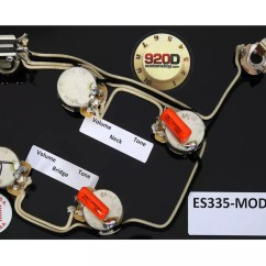 Epiphone Es 335 Pro Wiring Diagram 3 Phase 5 Pin Plug Prewired Harness For Gibson Cts Switchcraft