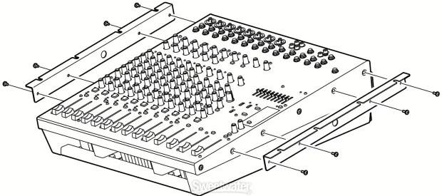 Yamaha RK5014 Rack Rail Mount for EMX5014C/EMX5016CF Mixer
