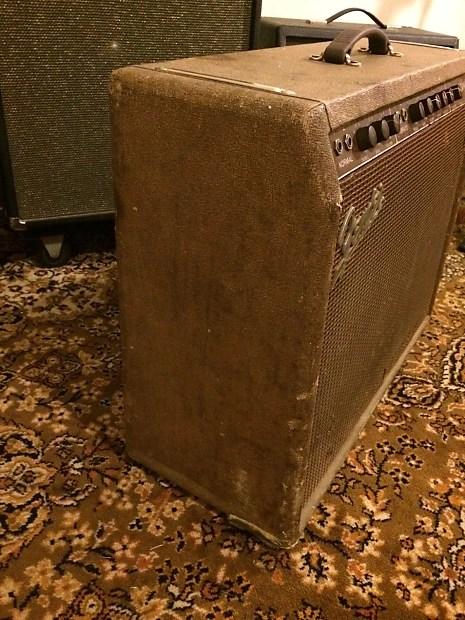 Fender Vibrasonic Pink Brownface Center Volume Very