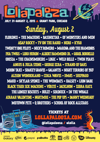 Lollapalooza Sunday