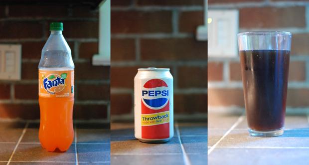 Orange soda and cola make Spezi!