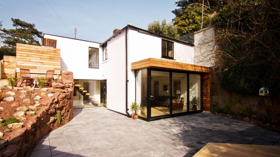 Home extension with expanded garden area