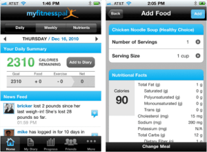 My Fitness Pal Smartphone App