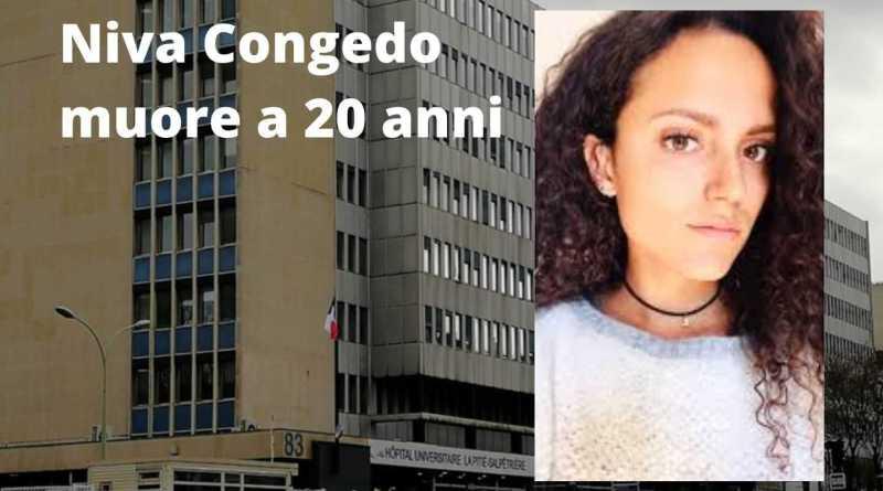 Niva Congedo muore a 20 anni