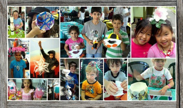 Children enjoying Reverse Garbage's reuse workshop