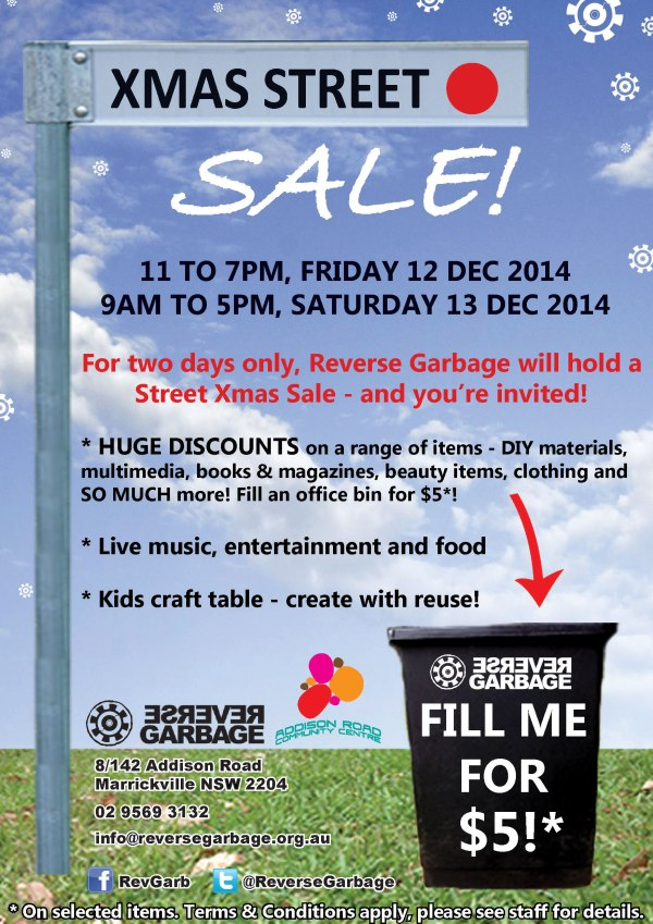Reverse Garbage Xmas Street Sale