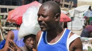A Haitian earthquake survivor in Port au Prince.