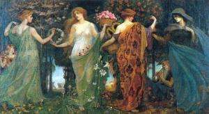seasons The Masque of the Four Seasons by Walter Crane