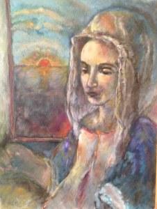 veil woman sun