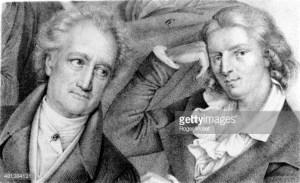 Friedrich Schiller und Goethe