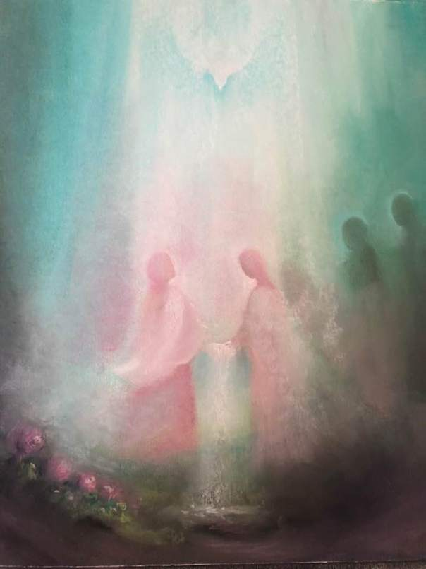 This image has an empty alt attribute; its file name is rose-angels-veil-painting-Karine-Munk-Finser.jpg
