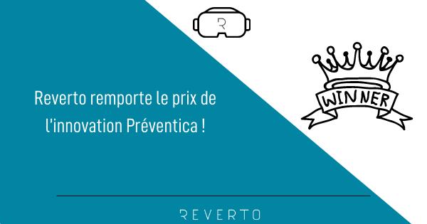 REVERTO remporte le prix de l'innovation Préventica