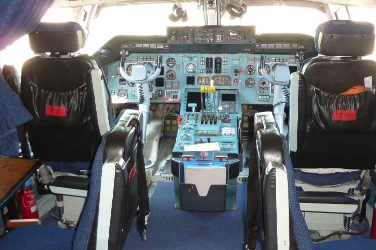 la cabine de pilotage